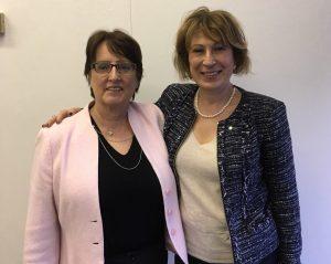 Joyce Gordon and Dr. Mona Nemer
